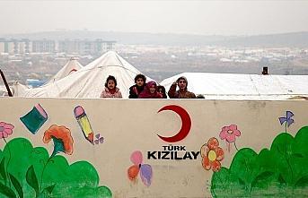 Türk Kızılay İdlib'de yaraları sarıyor