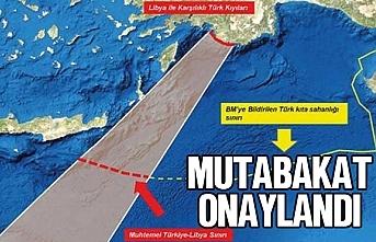 Türkiye ile Libya arasında imzalanan mutabakat muhtırası...