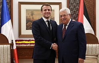 Abbas ve Macron, Filistin meselesi ve bölgesel gelişmeleri değerlendirdi