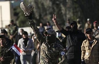 ABD'nin Bağdat Büyükelçiliği önündeki gösteriler...