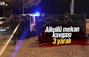 Atakum'da alkollü mekan kavgası, 3 yaralı