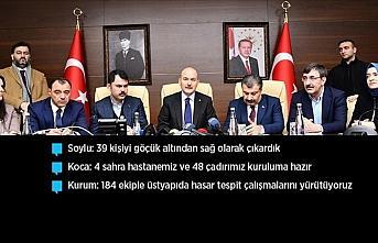 Bakan Soylu: Malatya'da 4, Elazığ'da 18 vatandaşımız...