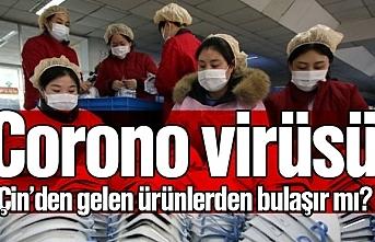 Corona virüsü Çin'den gelen ürünlerden bulaşır mı?