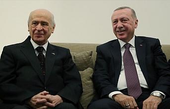 Cumhurbaşkanı Erdoğan ile MHP Genel Başkanı Bahçeli...