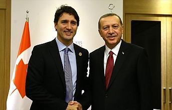 Cumhurbaşkanı Erdoğan, Kanada Başbakanı Trudeau ile görüştü