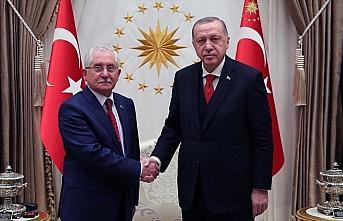 Cumhurbaşkanı Erdoğan, YSK Başkanı Sadi Güven'i...
