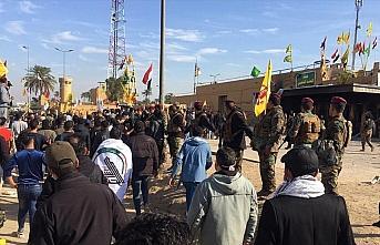 Haşdi Şabi milislerini ABD'nin Bağdat Büyükelçiliği...