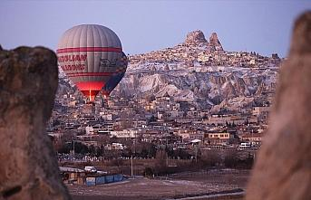 Kapadokya'yı geçen yıl 585 bin turist gökyüzünden...