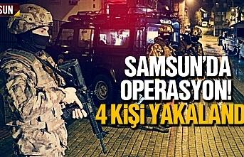 Samsun'da operasyon, 4 kişi yakalandı