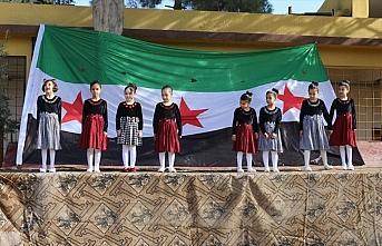Suriye'nin kuzeyindeki okullarda karne heyecanı