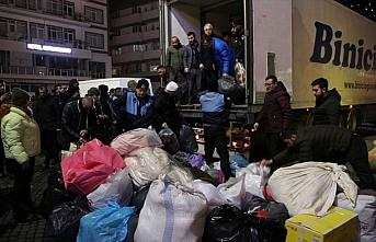 Trabzon, Ordu ve Giresun'dan depremzedelere yönelik...