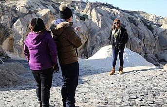 Yarıyıl tatilinde Kapadokya'yı tercih edecek turistleri...
