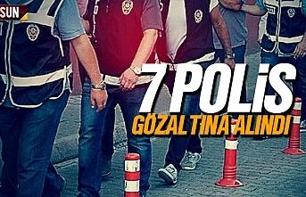 7 komiser yardımcısı polis gözaltına alındı