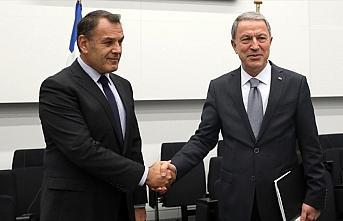 Bakan Akar, Yunanistan Savunma Bakanı Panagiotopoulos...