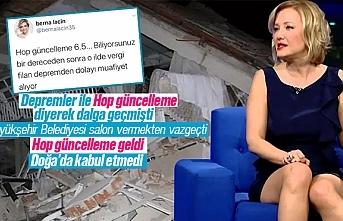 Berna Laçin'e hop güncelleme, Doğa'da kabul etmedi