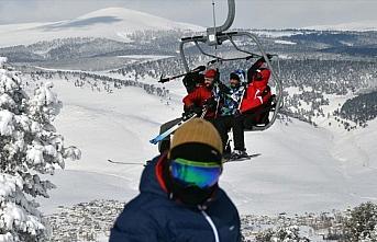 Cıbıltepe'de sıfırın altında 16 derecede kayak...