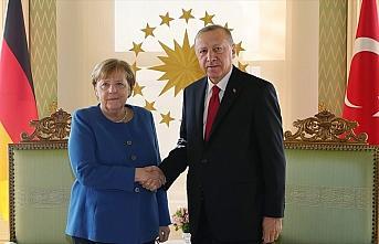 Cumhurbaşkanı Erdoğan ile Almanya Başbakanı Merkel...
