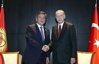Cumhurbaşkanı Erdoğan Kırgız mevkidaşı Ceenbekov...