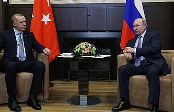 Cumhurbaşkanı Erdoğan, Rusya Devlet Başkanı Putin ile telefonda görüştü