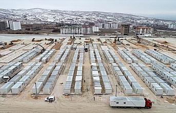 Elazığ'da enkaz kaldırma ve konteyner kent kurulum...
