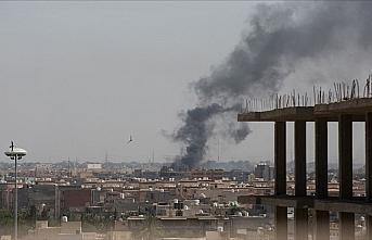 Hafter milislerinin Trablus'a topçu saldırısında...