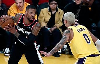 NBA'de Trail Blazers forması giyen Lillard'dan 51...