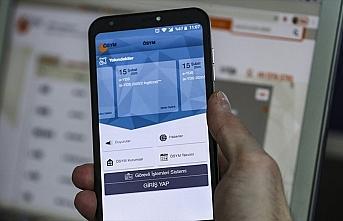 ÖSYM'nin aday işlemleri için mobil uygulaması...