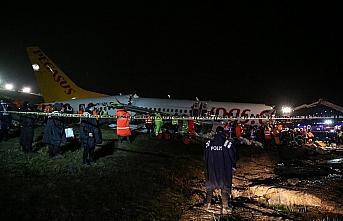 Sabiha Gökçen Havalimanı'nda pistten çıkan uçak...