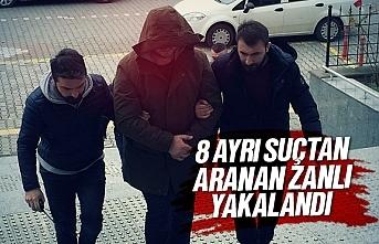 Samsun'da 8 ayrı suçtan aranan zanlı yakalandı