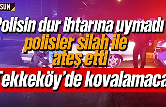 Samsun'da polisin dır ihtarına uymayan zanlılara polis ateş etti