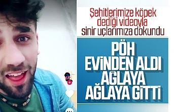 Şehitlerimize köpek diyen PKK'lı evinden alındı