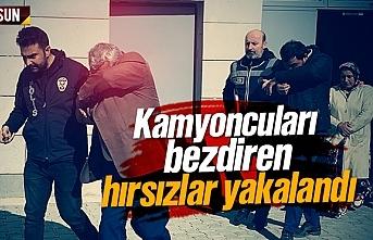 Tekkeköy'de kamyoncuları bezdiren hırsızlar...