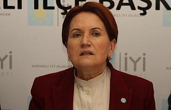 İYİ Parti Genel Başkanı Akşener 'Ekonomik İstikrar...