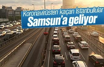 Koronavirüsten kaçan İstanbullular Samsun'a geliyor