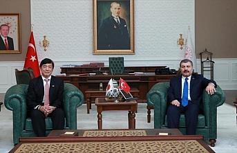 Sağlık Bakanı Koca, Japonya'nın Ankara Büyükelçisi...