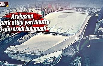 Samsun'da arabasını park ettiği yeri unuttu,...