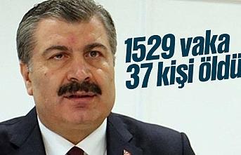 Türkiye'de kornavirüs vaka sayısı 1529, ölenlerin sayısı 37 oldu