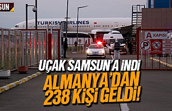 Almanya'dan 238 kişi Samsun'a uçakla getirildi