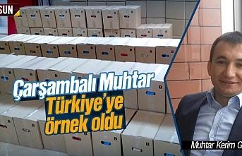 Çarşambalı Muhtar Kerim Gülaçtı, Türkiye'ye örnek oldu