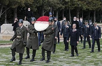 Emniyet Genel Müdürü Aktaş ve beraberindekiler Anıtkabir'i ziyaret etti