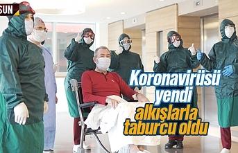 Samsun'da koronavirüsü yenen hasta taburcu oldu
