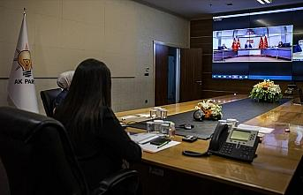 AK Parti, CHP ve MHP ile video konferans aracılığıyla...