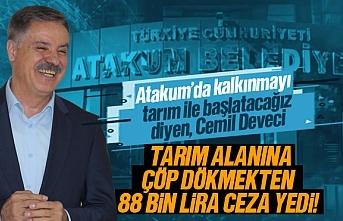 Atakum Belediyesi tarım alanına çöp döktüğü için 88 bin lira para cezası yedi