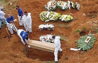 Brezilya'da Kovid-19 nedeniyle ölenlerin sayısı...