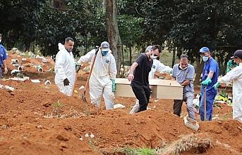 Brezilya'da Kovid-19'dan son 24 saatte 956 kişi yaşamını...