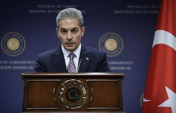 Dışişleri sözcüsü Aksoy'dan Mısır, Yunanistan,...