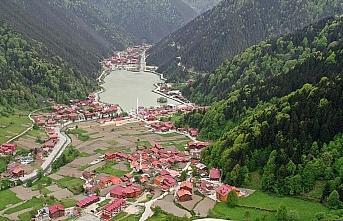 Dünyaca ünlü turizm merkezi Uzungöl'de Kovid-19...
