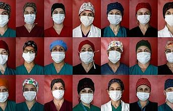 'Kovid savaşçıları'nın rengarenk boneleri hastalara...