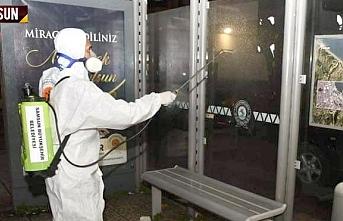 Samsun Büyükşehir Belediyesi 2 bin 286 noktayı dezenfekte etti