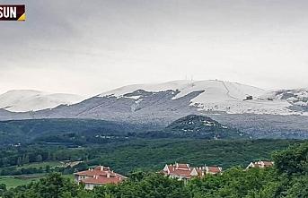 Samsun'da Mayıs ayında kar sürprizi